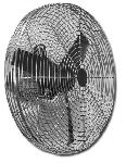 20 Inch S.S. Washdown Duty Circulation Fans With Anodized Aluminum Motors And Poly Blades 20CFO-VWDP